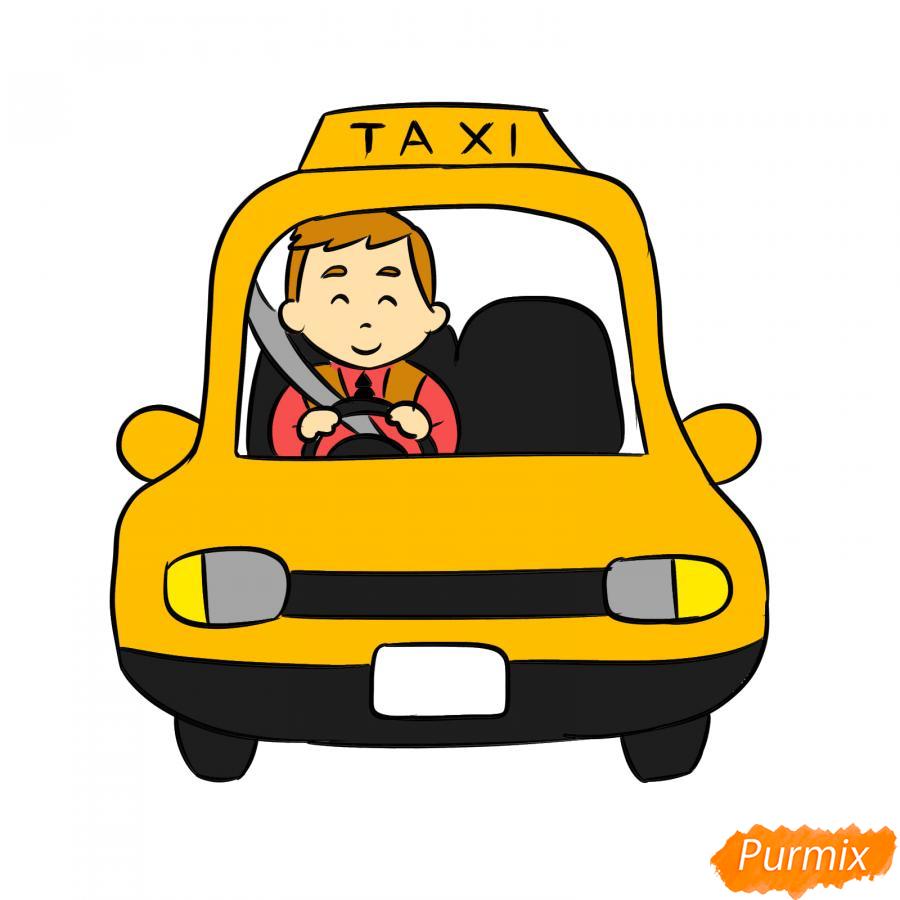 Рисуем водителя такси - шаг 8
