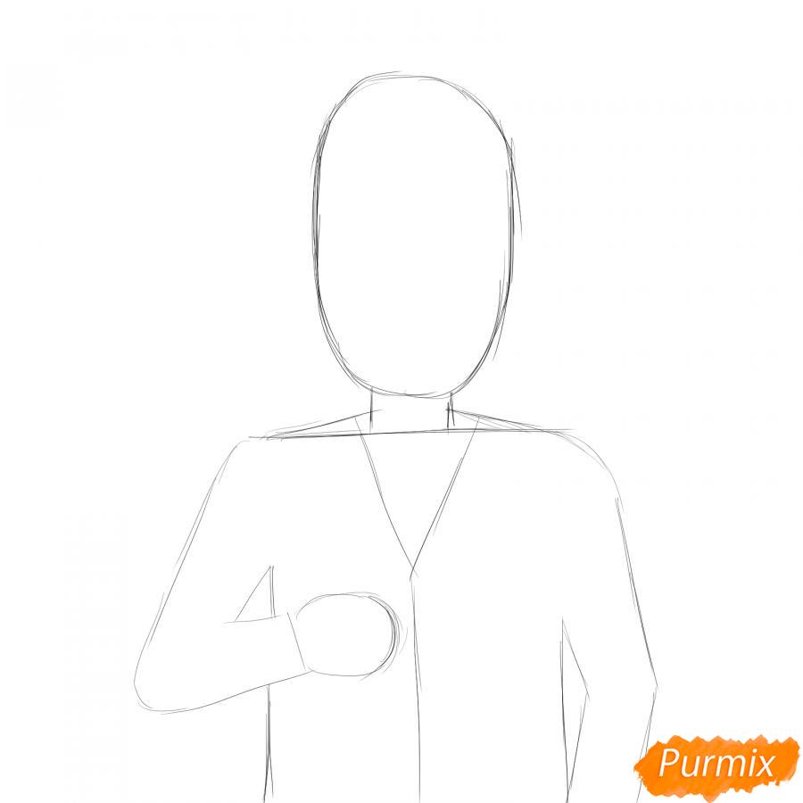 Рисуем врача в маске - шаг 2