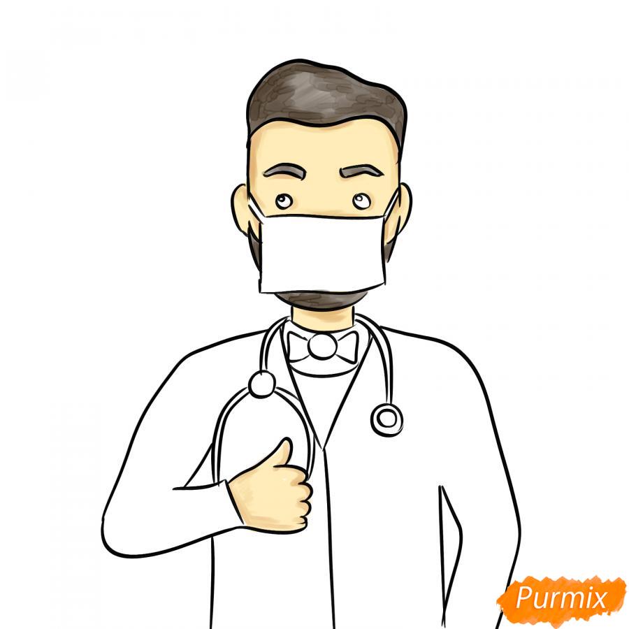 Рисуем врача в маске - шаг 6