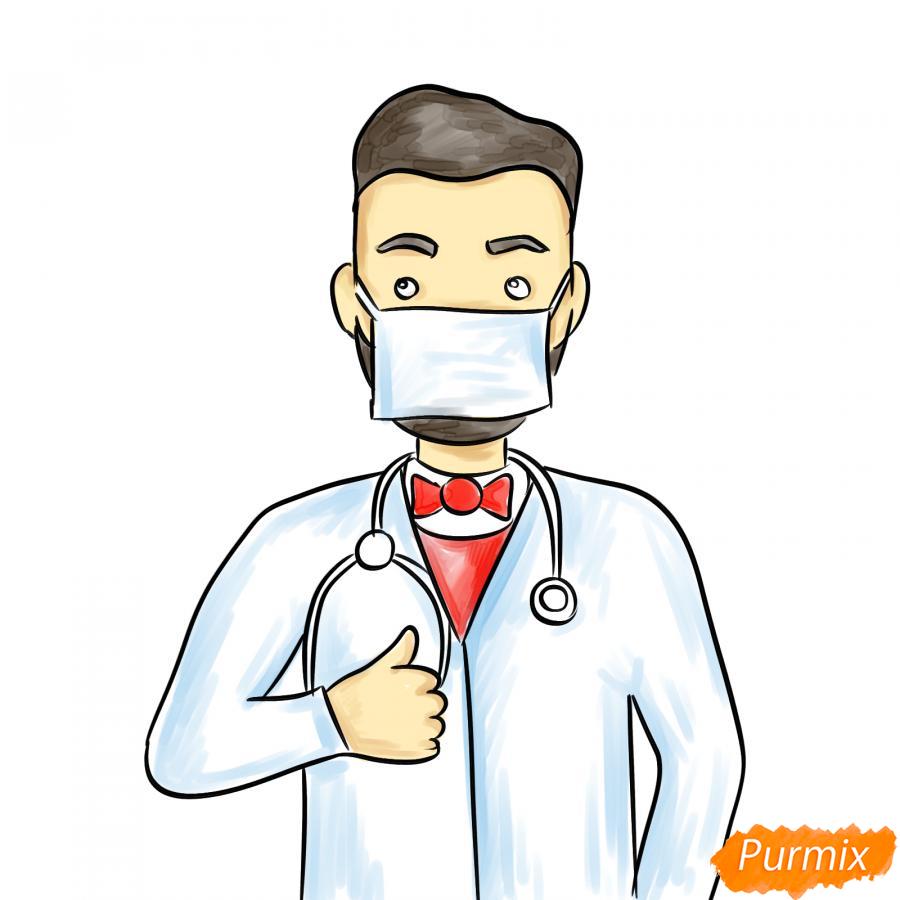 Рисуем врача в маске - шаг 7