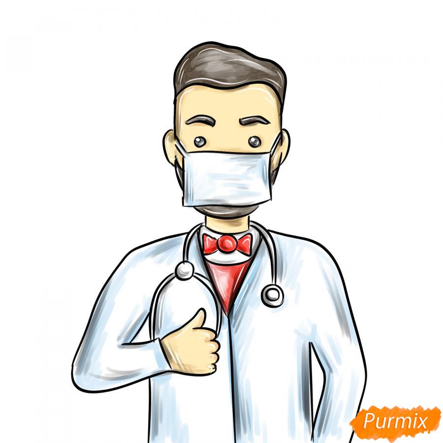 Рисуем врача в маске - шаг 8