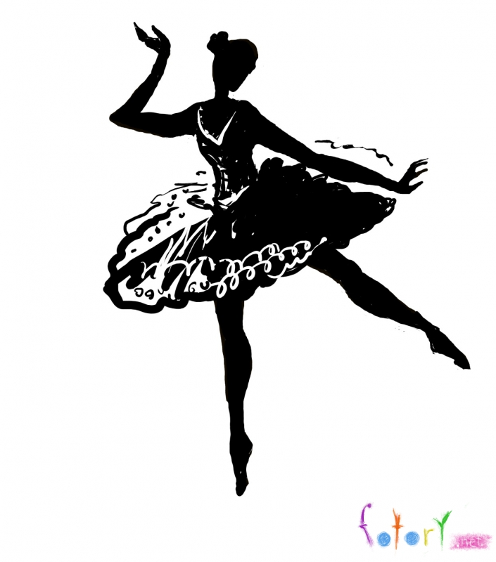 Рисуем балерину
