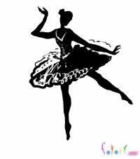 балерину карандашом