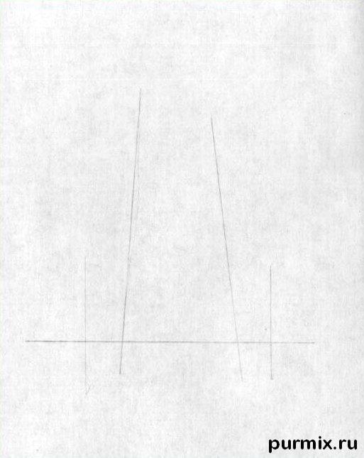 Рисуем человеческий нос простым - шаг 1