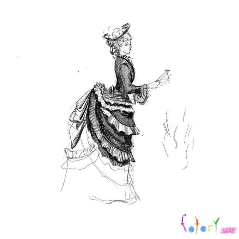 Рисуем девушку в платье 19 века