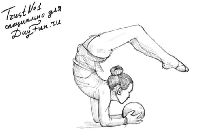 Рисуем гимнастку - шаг 4
