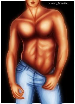 Рисуем красивое тело мужчины