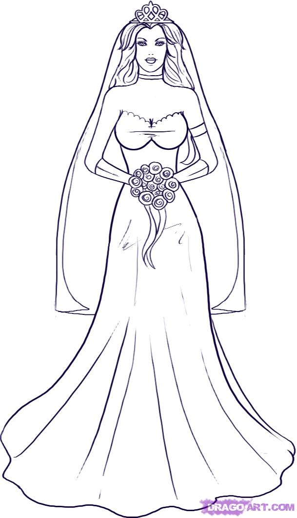 Рисуем невесту - шаг 6