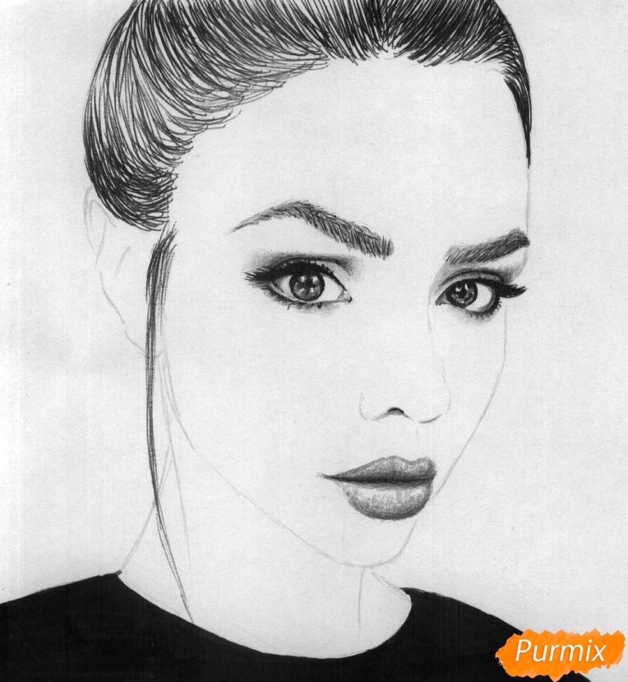 Рисуем портрет Маши Вэй - шаг 4