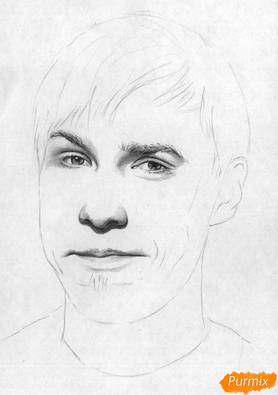 Рисуем портрет Стаса Давыдова - шаг 3