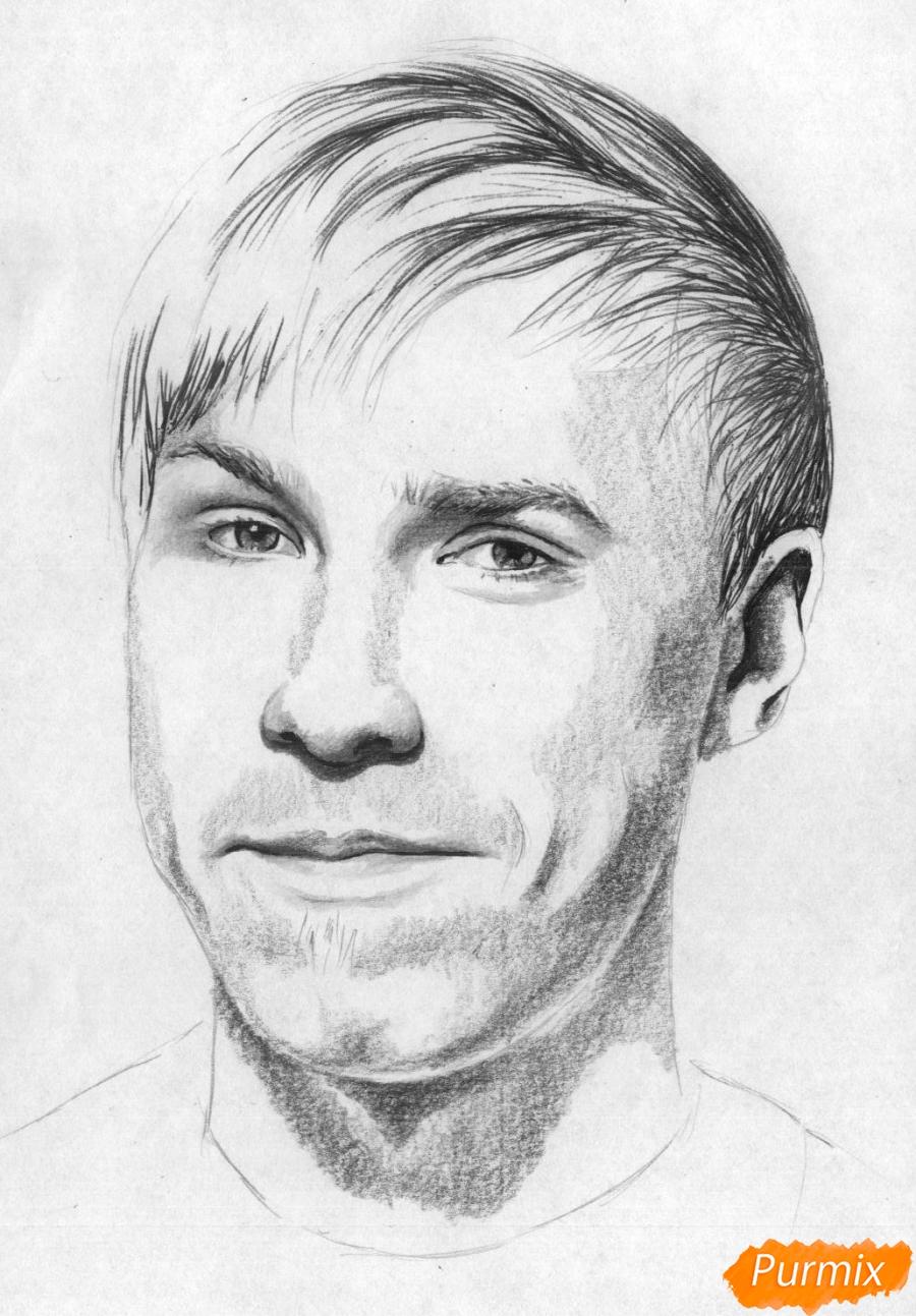 Рисуем портрет Стаса Давыдова - шаг 4