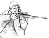 снайпера карандашом