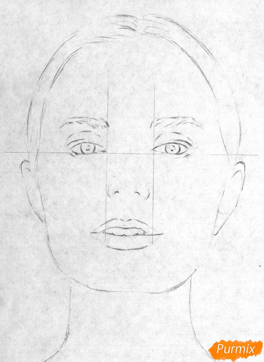 Рисуем портрет Сони Есьман - шаг 1
