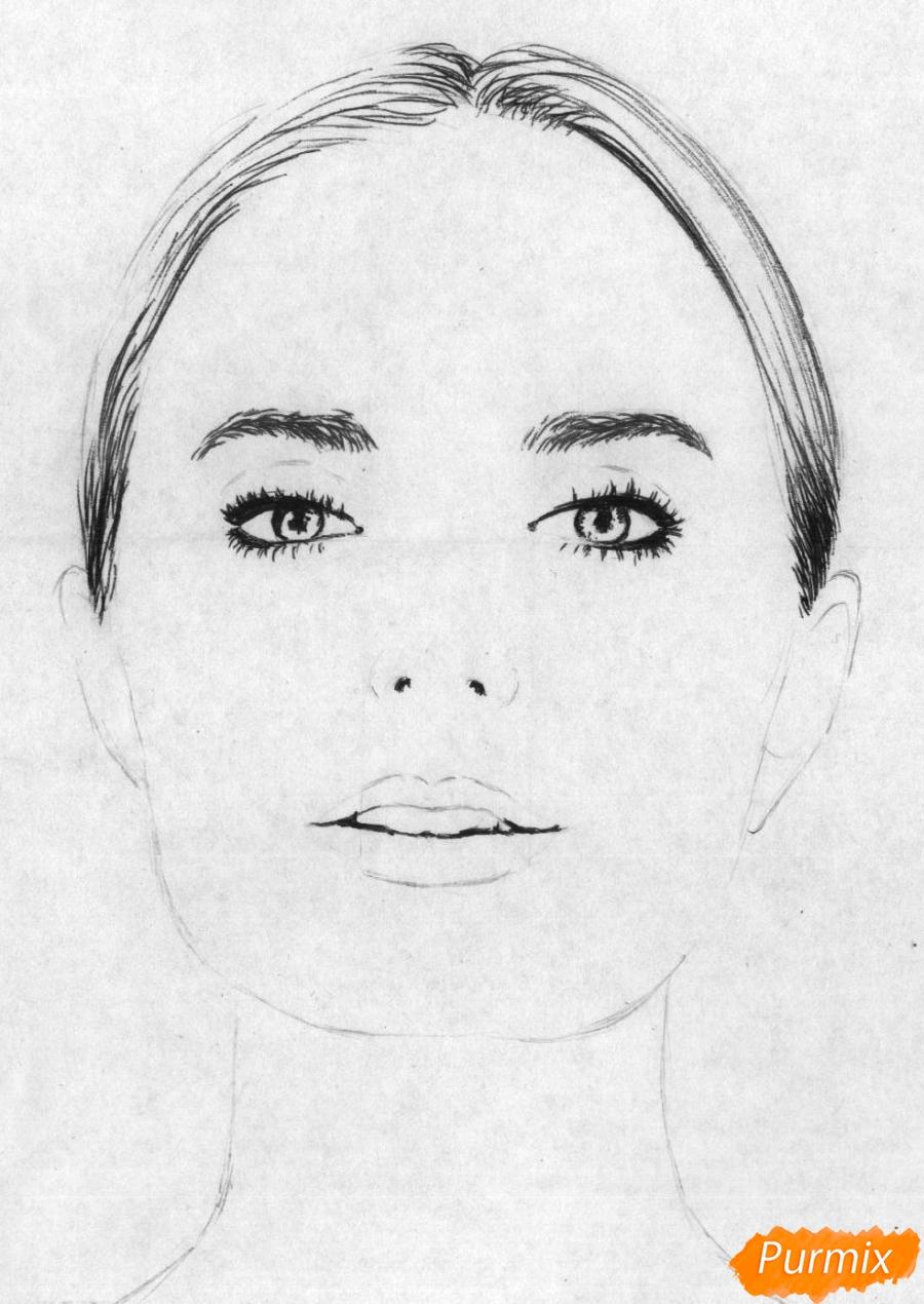 Рисуем портрет Сони Есьман - шаг 2