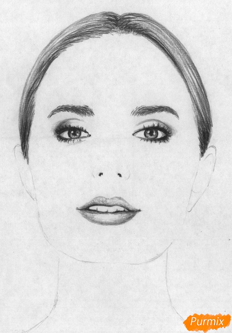 Рисуем портрет Сони Есьман - шаг 3