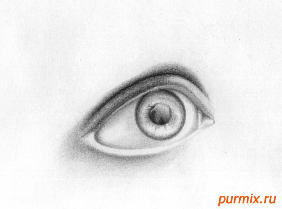 Рисуем глаз девушки - шаг 5