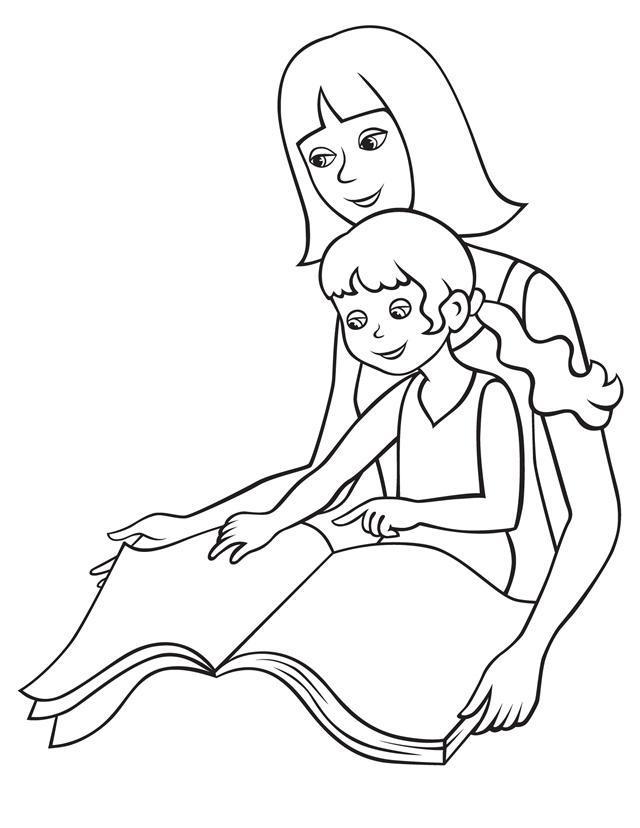 Мама с дочкой рисунки для срисовки - шаг 2