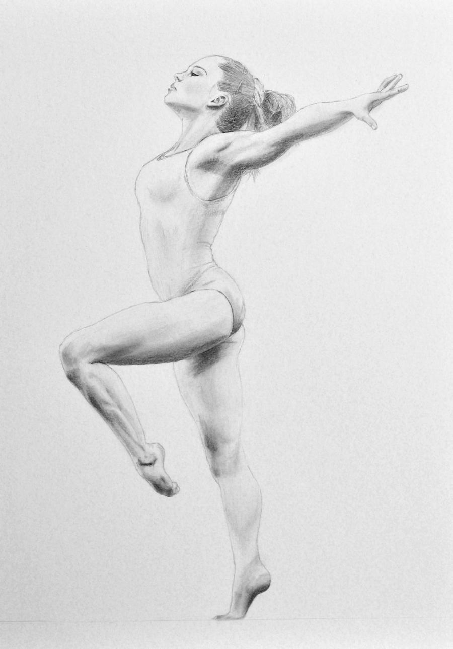 Рисунки гимнасток для срисовки - шаг 10