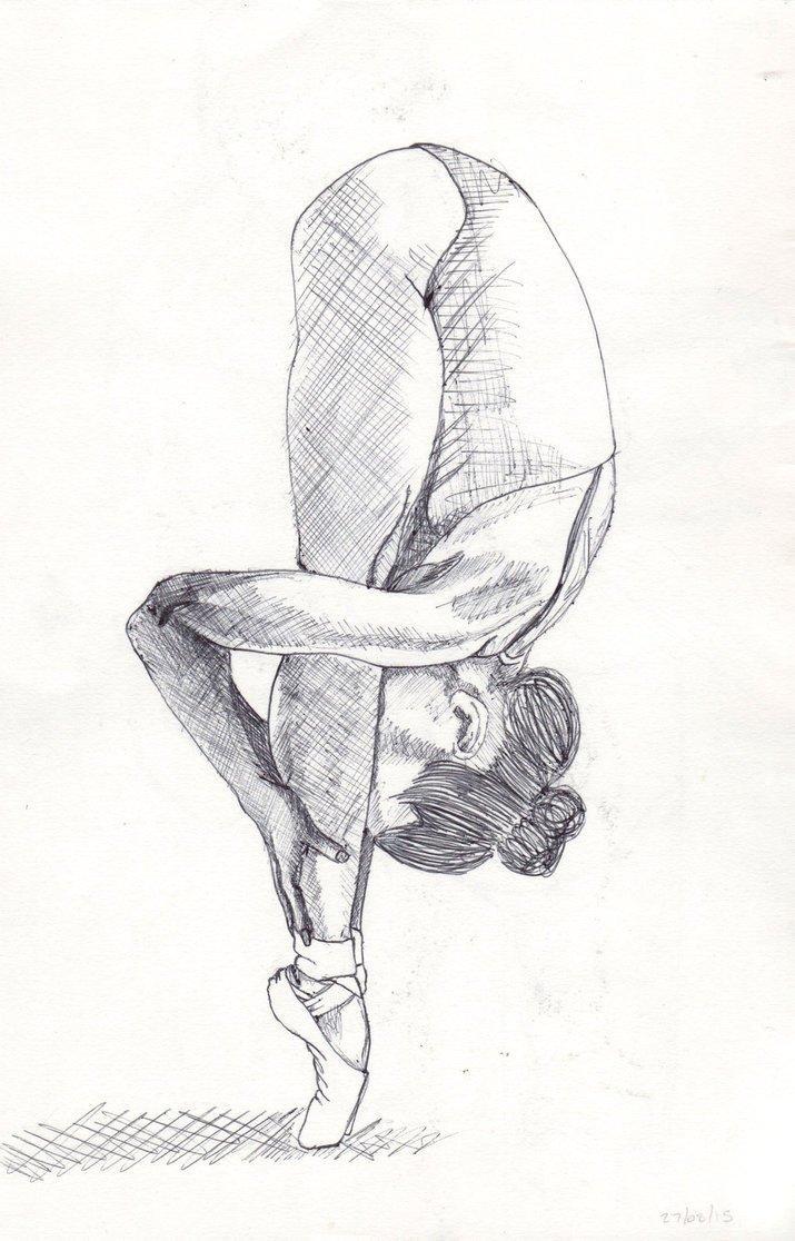 Рисунки гимнасток для срисовки - шаг 2