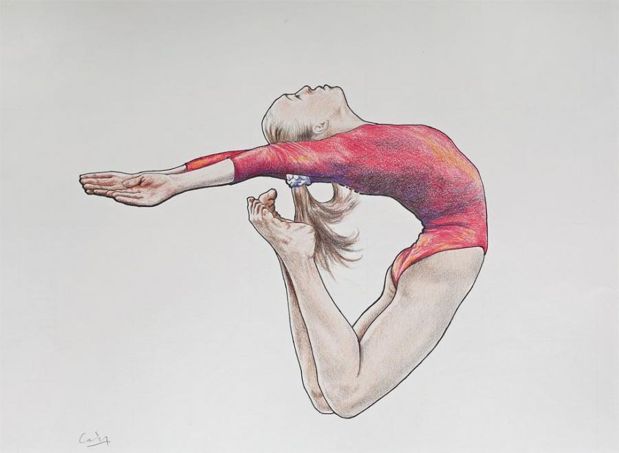 Рисунки гимнасток для срисовки - шаг 4