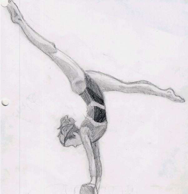 Рисунки гимнасток для срисовки - шаг 6