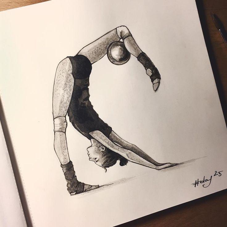 Рисунки гимнасток для срисовки - шаг 8