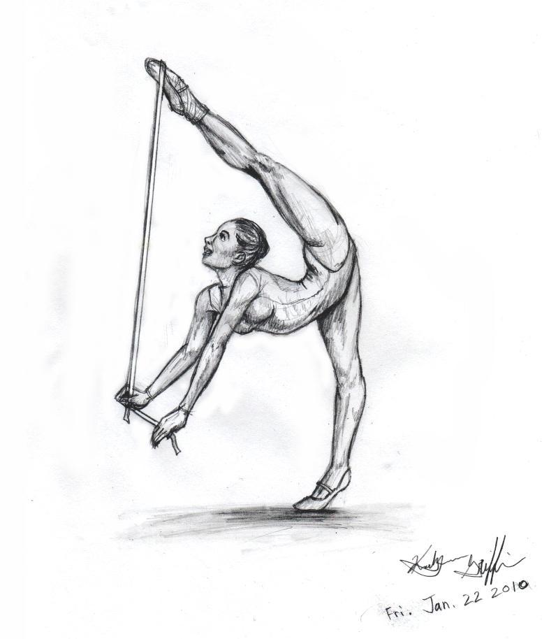 Рисунки гимнасток для срисовки - шаг 9