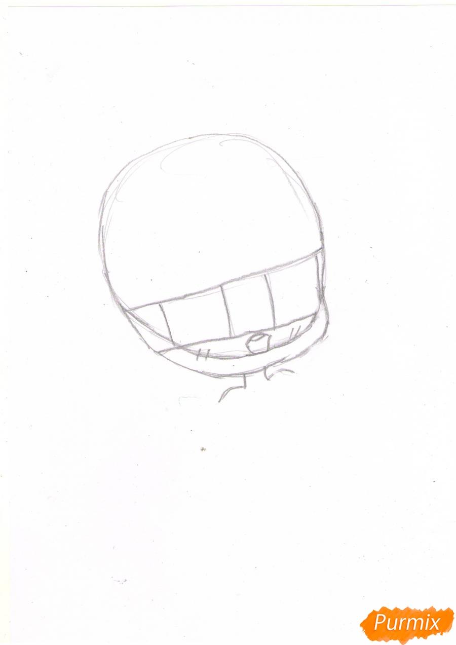 Рисуем анимешную чиби девушку с каштановыми волосами - шаг 1