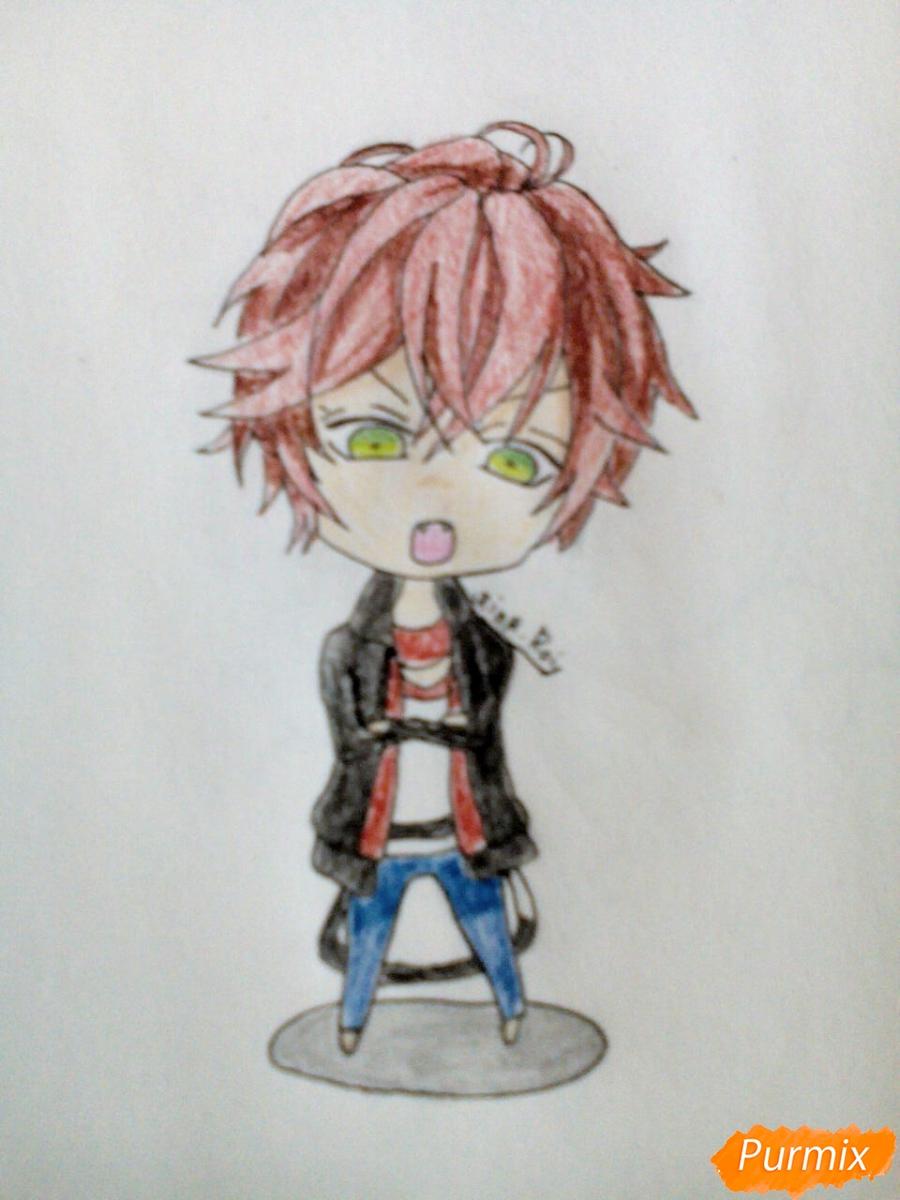 Рисуем Аято Сакамаки в стиле чиби - шаг 6