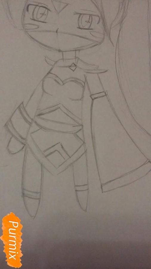 Рисуем чиби Templar Assassin - шаг 3