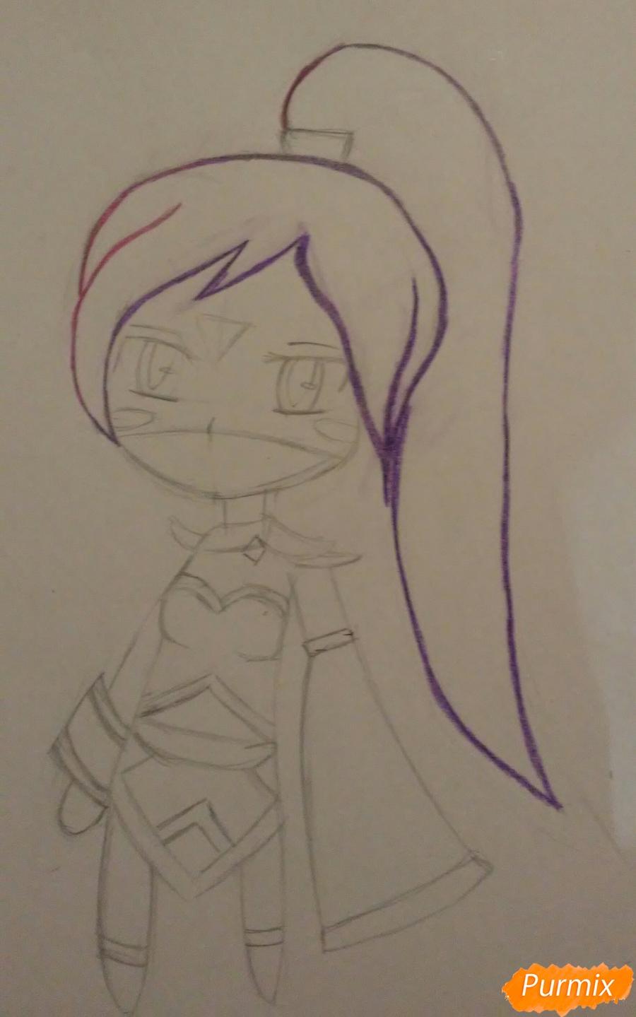 Рисуем чиби Templar Assassin - шаг 5