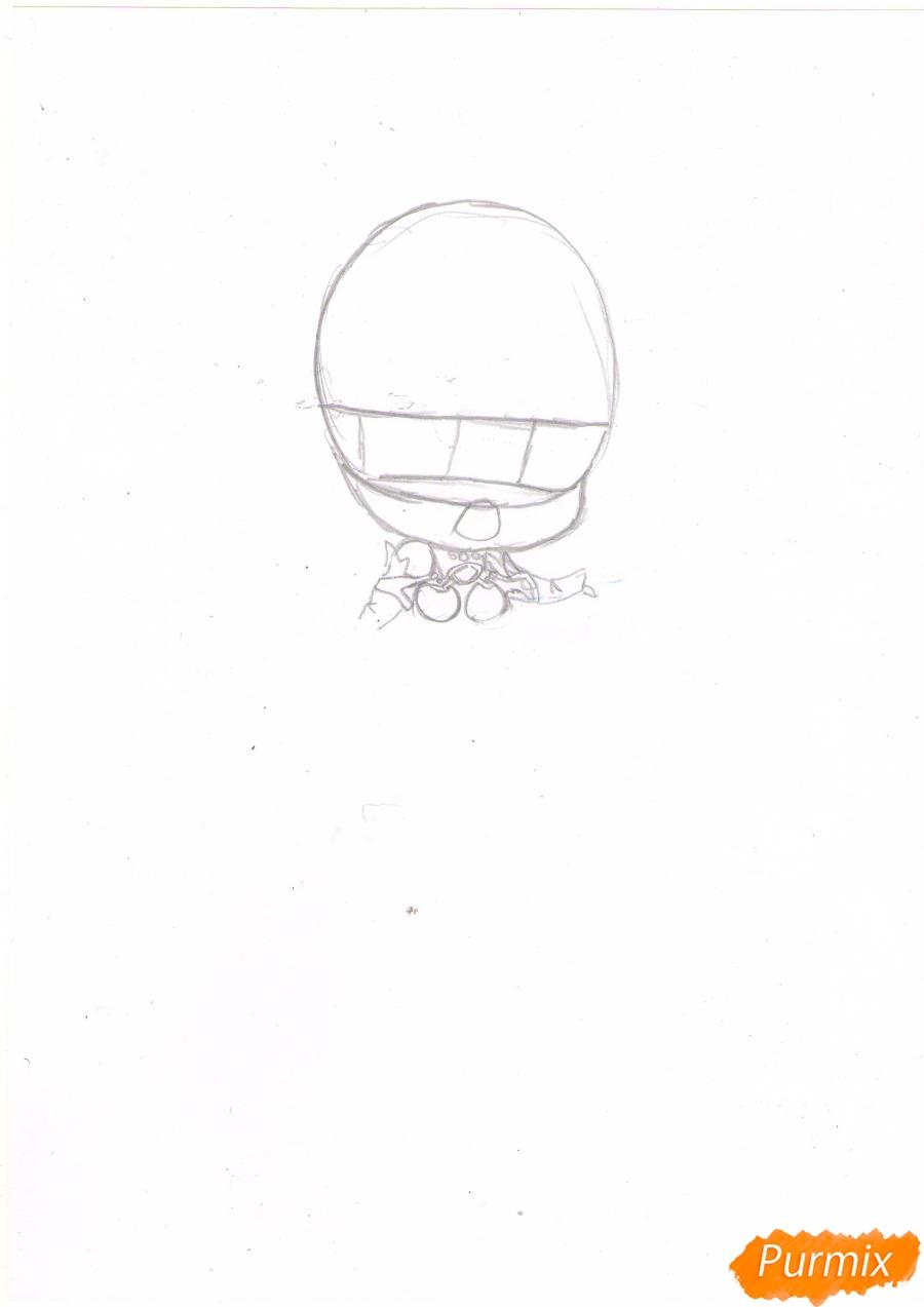 Рисуем чиби Асуну Юки в полный рост - шаг 1