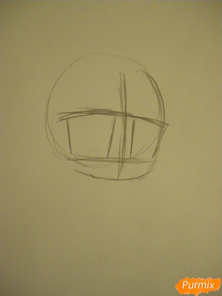 Рисуем чиби девочку неко с жёлтыми волосами - шаг 1