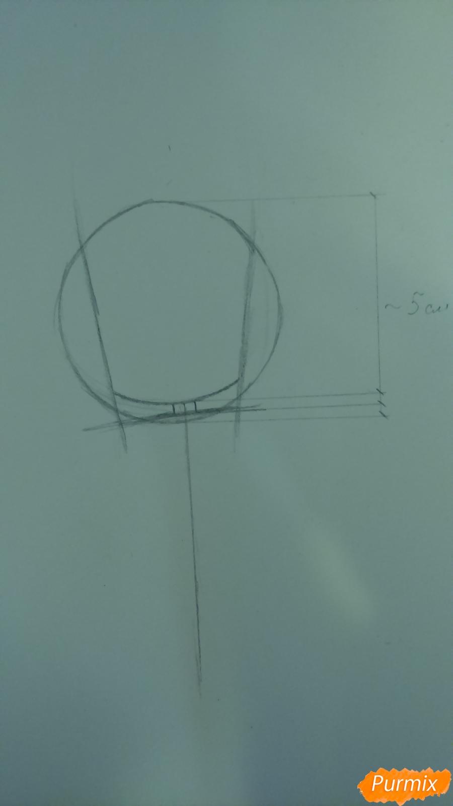 Рисуем милую чиби девочку с длинными волосами - шаг 2