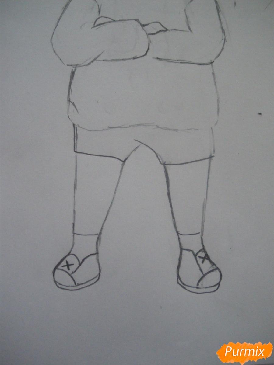 Рисуем чиби девочку в кепке  для начинающих - шаг 5