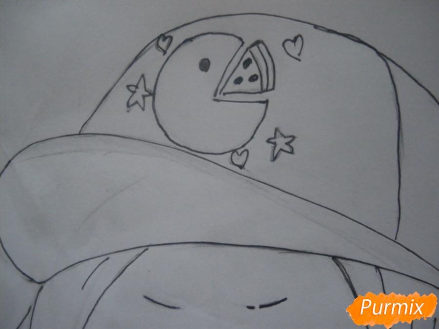 Рисуем чиби девочку в кепке  для начинающих - шаг 8