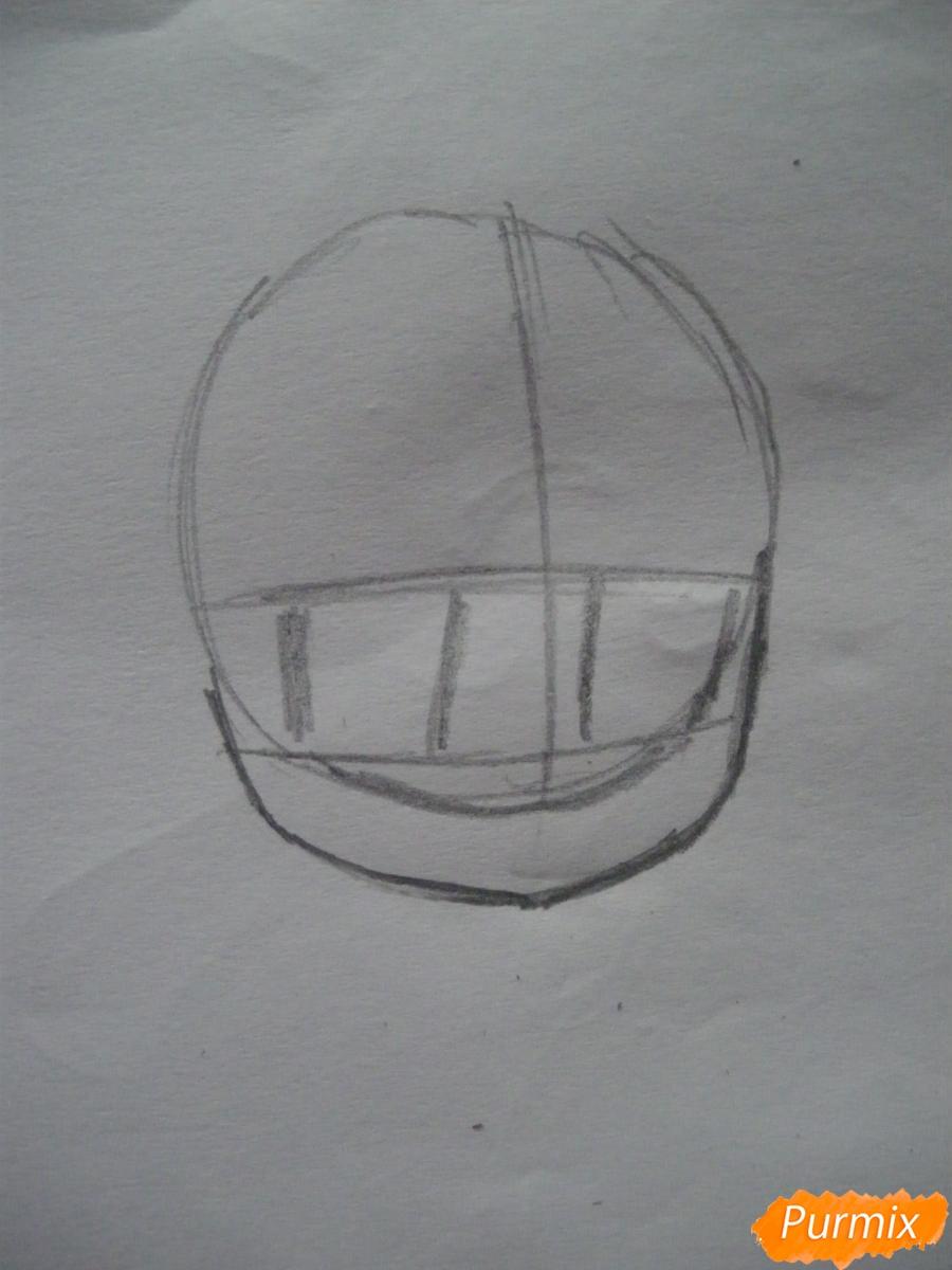 Рисуем чиби девочку в очках и шапке карандашами - шаг 1