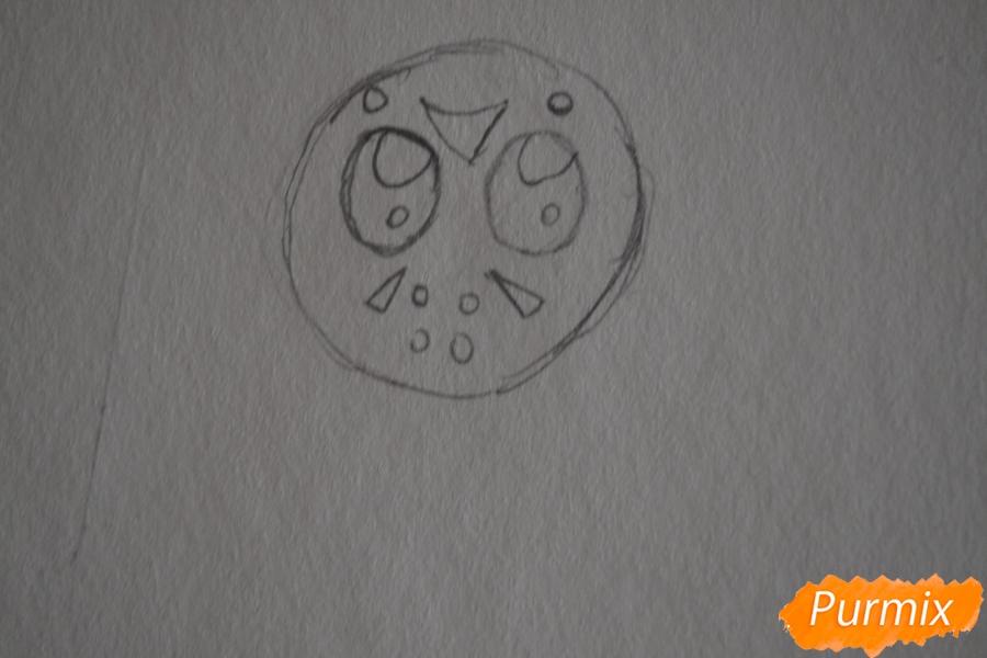 Рисуем чиби Джейсона Вурхиза из Пятницы 13 в стиле - шаг 1
