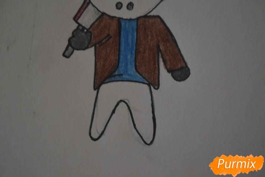 Рисуем чиби Джейсона Вурхиза из Пятницы 13 в стиле - шаг 6