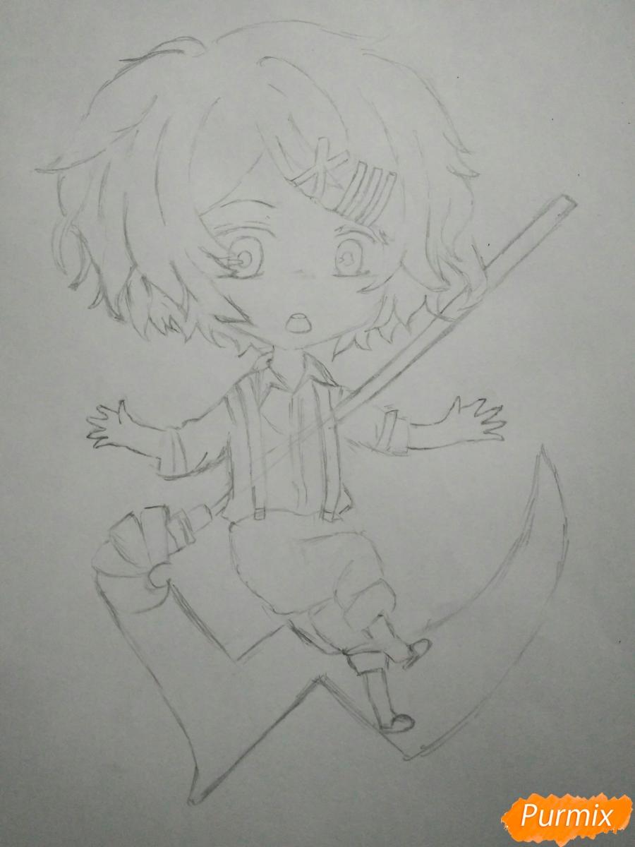 Рисуем чиби Джузо из аниме Токийский гуль - шаг 6