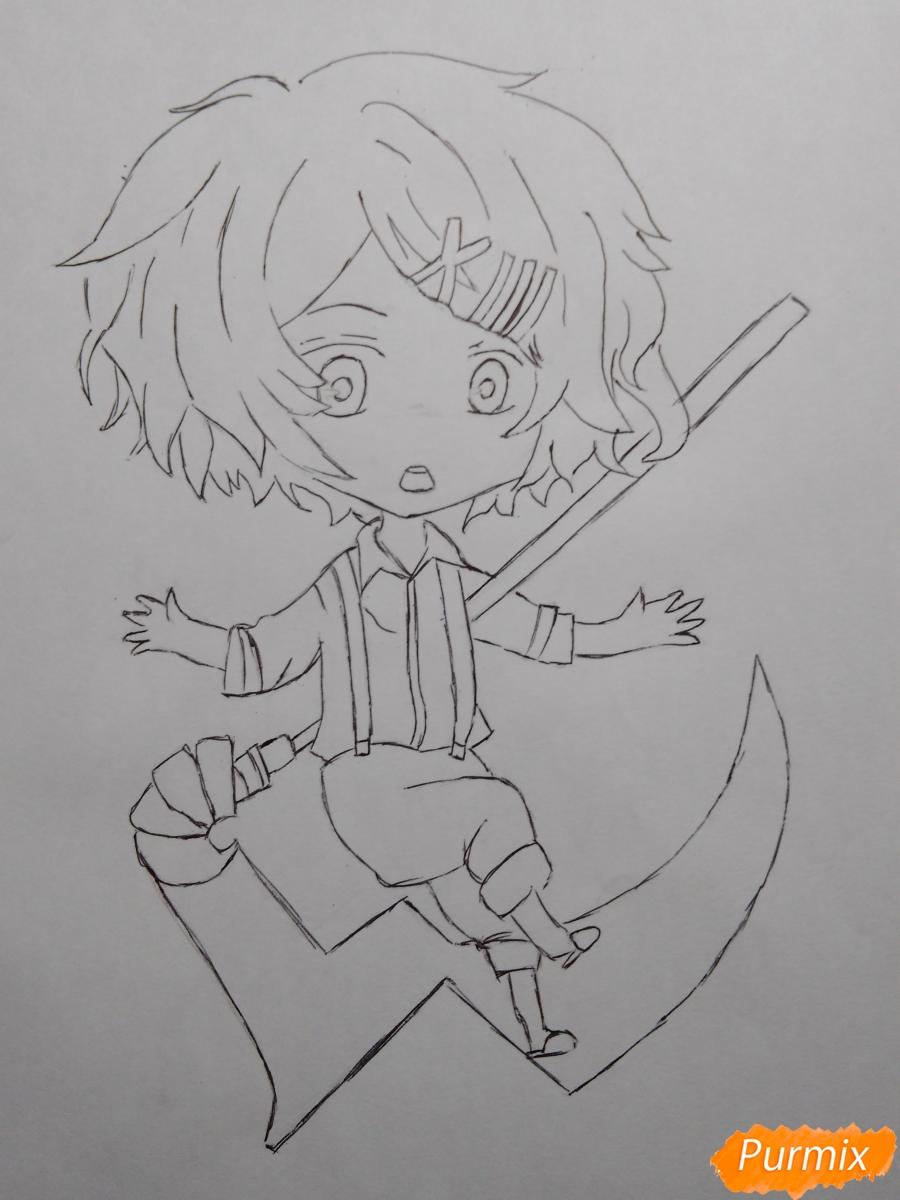 Рисуем чиби Джузо из аниме Токийский гуль - шаг 7