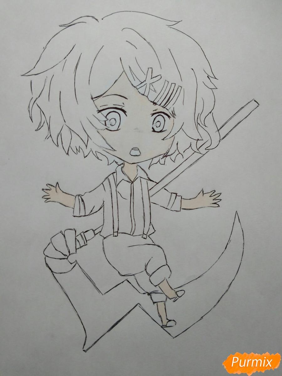 Рисуем чиби Джузо из аниме Токийский гуль - шаг 8