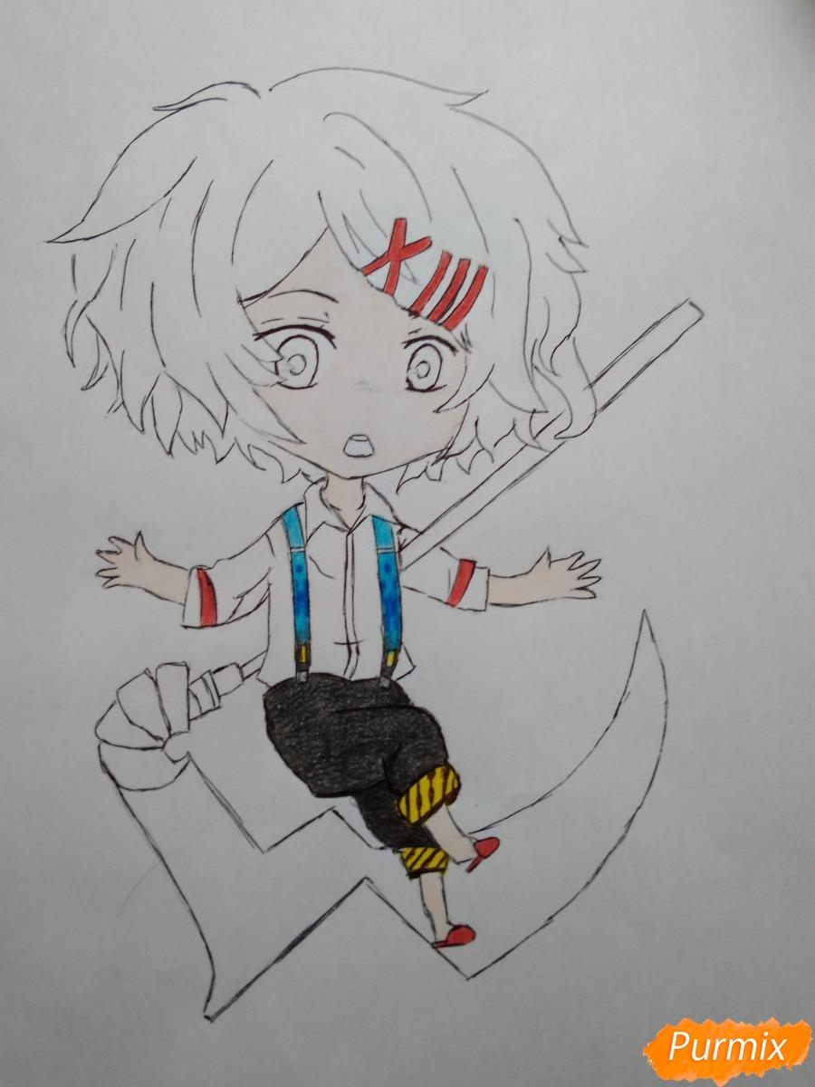 Рисуем чиби Джузо из аниме Токийский гуль - шаг 9
