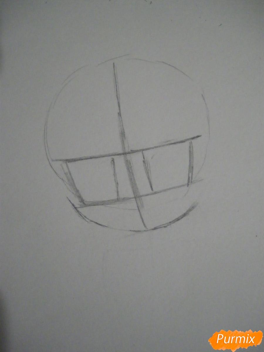 Рисуем чиби Хатсуне Мику в костюме северного мишки - шаг 1