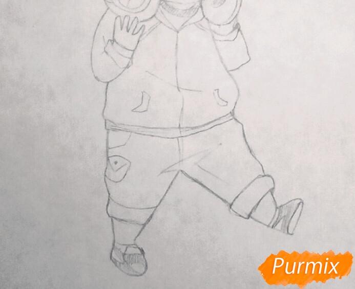 Рисуем чиби Хиде из аниме Токийский гуль - шаг 5