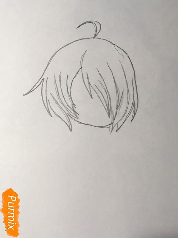 Рисуем чиби Изуми - шаг 1