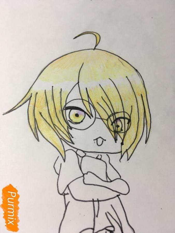 Рисуем чиби Изуми - шаг 10