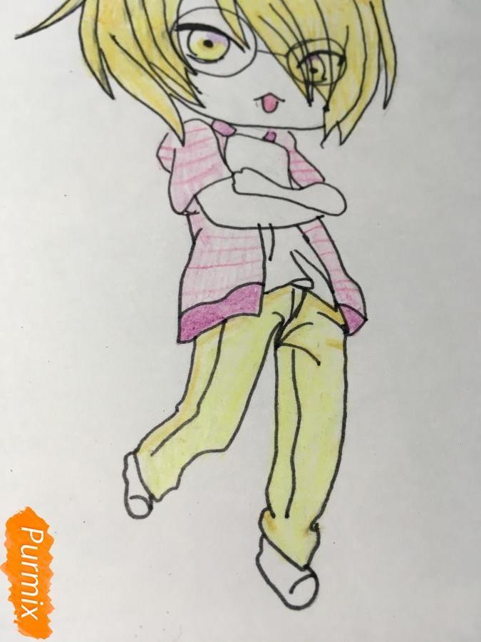 Рисуем чиби Изуми - шаг 13