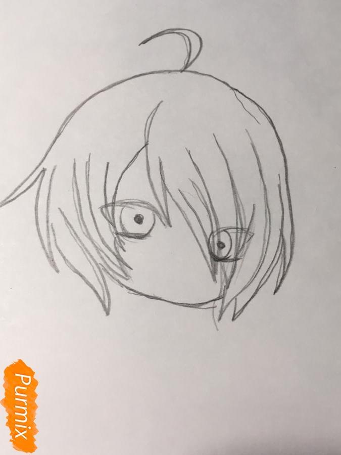 Рисуем чиби Изуми - шаг 2