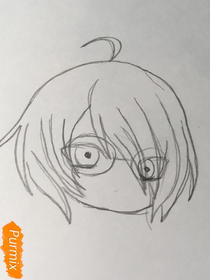 Рисуем чиби Изуми - шаг 3